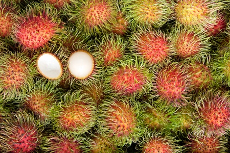 Rambutan, tropical fruits Stock Photo