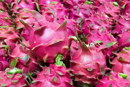 Bunch of dragon fruit red