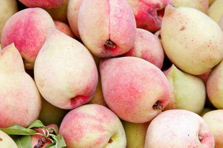 Peach close up in market