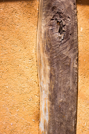 Old wood in soil texture wall for background