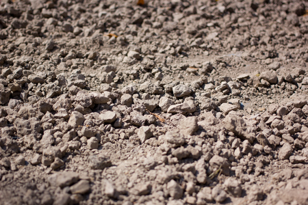 soil conservation: Texture of soil wall and raw soil for pottery artist of Chiang Rai Thailand