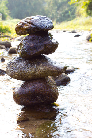 rock tower in the river