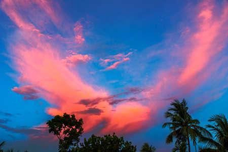 kolkata: Colourful sky,I shoot it from my roof,Birati,Kolkata,India. Stock Photo