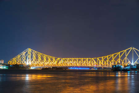 howrah: Howrah bridge in golden light,I shoot it in Howrah,India.