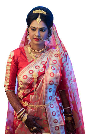 Royal Bengali Hindu Marriage Stock Photo