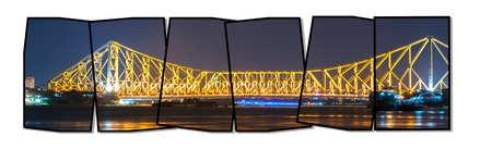 howrah: Howrah Bridge in night light
