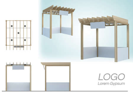 Market kiosk,Sale shop,Event And Exhibition booth 3d rendering