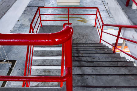 Stairs from a urban parking. Zdjęcie Seryjne