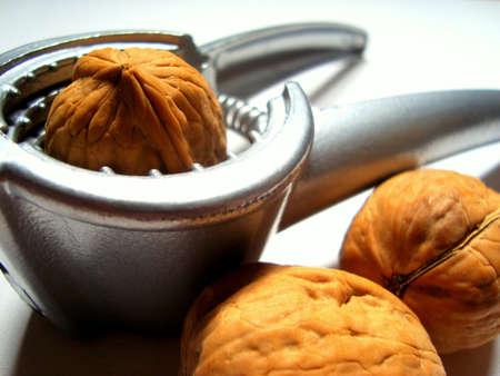 Nutcracker and walnuts Stock Photo - 17486472