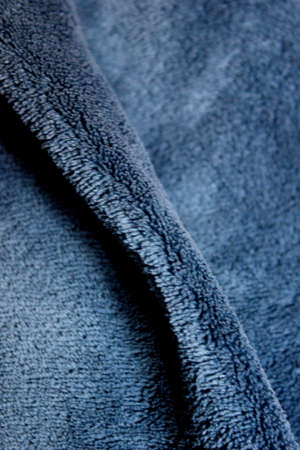 towelling: Blue blanket Stock Photo