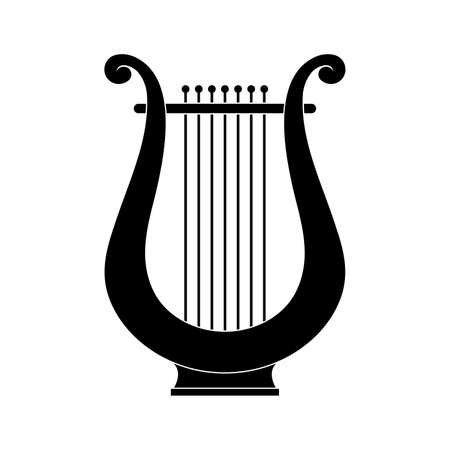 Classic lire ancient stringed instrument, great design for any purposes. Vector illustration on white background. Vettoriali