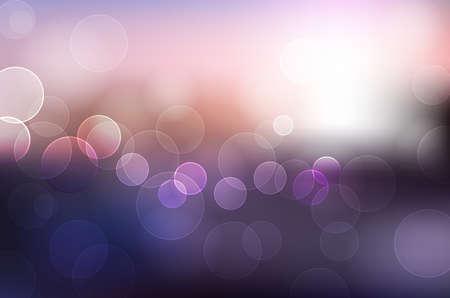 Bokeh light, beautiful vintage background. Vector image. 向量圖像