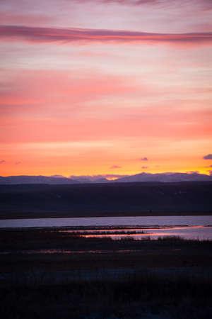 Fiery Sunset Stok Fotoğraf