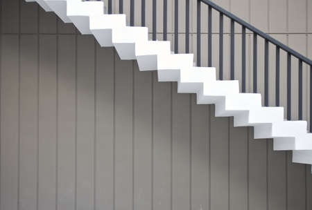 White wall mounted stair building  photo