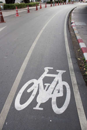 Bike lanes on campus. photo