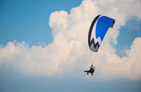paramotor Cloud bllackgound photo