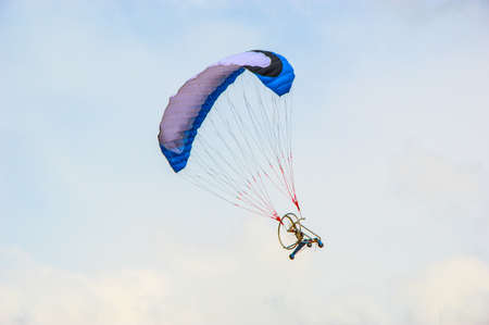 rc: rc paramotor flying Stock Photo