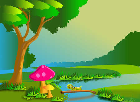 nature cartoon Vector