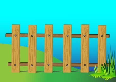 fence illustration Vector