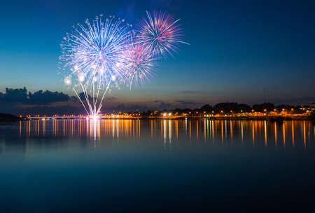 celebração: fogos de artifício