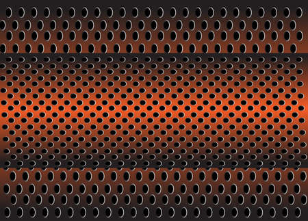 metal grid: metal grid vector background Illustration