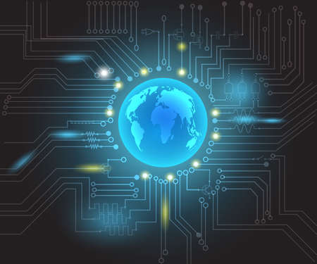 wold: electronics wold background concept vector