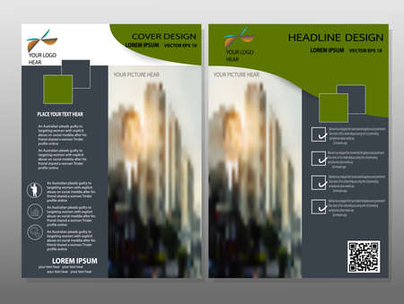 headline: Abstract triangle brochure flyer design layout template in A4 size,Headline background vector. Illustration