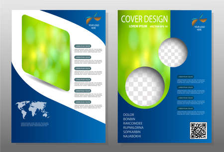Flyer,Blue annual report brochure,Modern flyer design template illustration vector, Leaflet cover presentation abstract background,Headline baackground, layout in A4 size