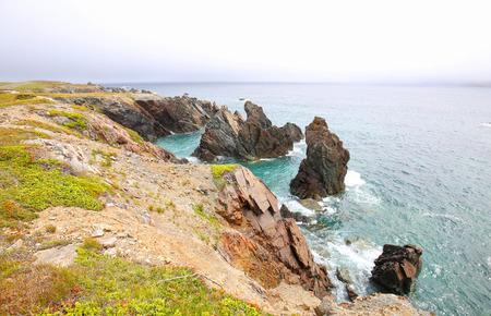 Rugged Sea Coast Landscape. Dungeon Provincial Park. Newfoundland, Canada