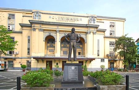 Manila, Philippines Feb 3, 2017.  Manila Mayor Arsenio Lacson Statue in front of Manila City Hall, Philippines