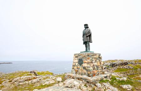 Bonavista, Newfoundland.  Canada.  Statue of John Cabot. Italian navigator and explorer