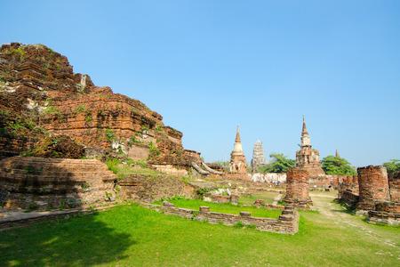 Temple Ruins at Ayutthaya, Thailand Stock Photo