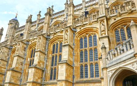 Aug 29, 2017 Windsor, England. Medieval Windsor Castle . St Georges Chapel. Windsor Castle, English county of Berkshire