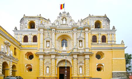 Antigua City, Guatemala. San Jose cathedral at Plaza Mayor square.