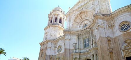 Architectural Details of The Cathedral of the Holy Cross. City of Cadiz, Andalusia, Spain