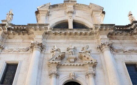 Dubrovnik, Croatia. Facade of Church of St. Blaise, Baroque church.