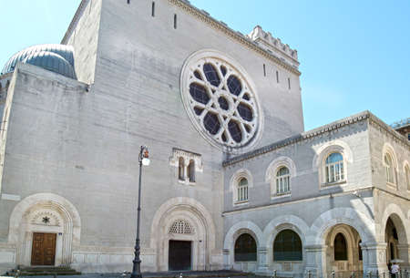 Trieste, Italy. Exterior View of Synagogue, a Jewish House of Worship.