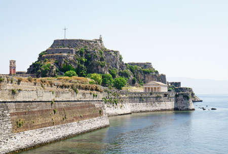 Corfu, Greece. Venetian built Old Fortress by the sea