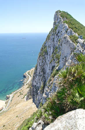 Aerial View atop Rock of Gibraltar, British Overseas Territory on Iberian Peninsula. Sajtókép