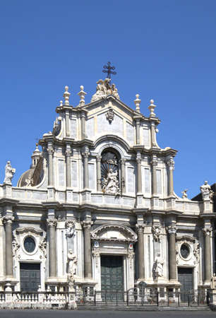 Catania Cathedra at the Piazza Duomo Square in Catania, Sicily, Italy. Sajtókép