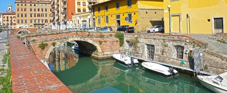 Canal of Livorno, Italy. Near the Nuova fortress.
