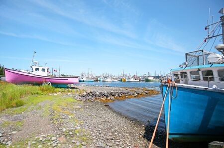 Yarmouth, Nova Scotia, Canada.  A typical Fishing Village Scene. Stock fotó