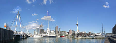 Panoramic view Auckland City Skyline. New Zealand.