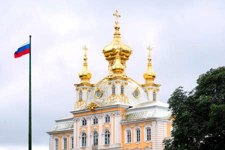 Peterhof Church of Grand Palace in Petrodvorets, Russian Federation Publikacyjne