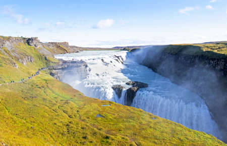Gullfoss (golden waterfalls), Iceland. It is located in the South of Iceland, Close to Reykjavik.