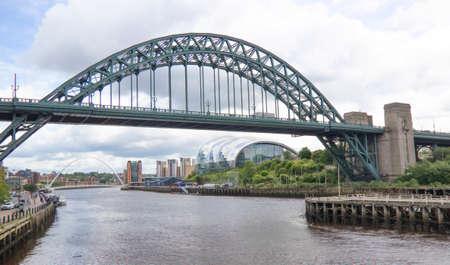 Tyne Bridge over the River Tyne, Newcastle, England, UK. Connecting Newcastle Upon Tyne and Gateshead Zdjęcie Seryjne