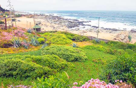 Isla Negra The city where Pablo Neruda lived. Ocean view from the Neruda House. Near Valparaiso and San Antonio, Chile.
