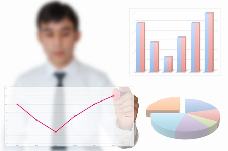 Businessman draw graph for year 2012 Stock Photo - 10429164