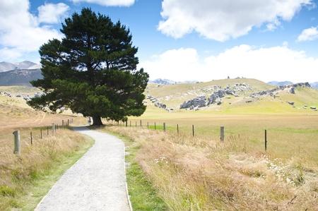 mountainscape: Castle Hill mountainscape, New Zealand