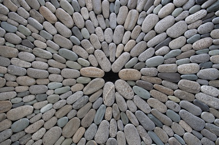 paving stone: Round stone background
